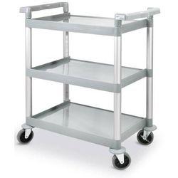 Wózek kelnerski 3-półkowy z polipropylenu | 410x740x(H)933mm