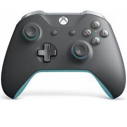 Kontroler bezprzewodowy Microsoft do konsoli Xbox (szaro-niebieski)