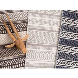 Dywan brązowy - 160x230 cm - bawełna - handmade - POLATLI