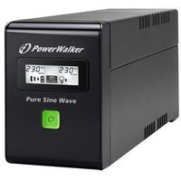 Zasilacze UPS, Ups Power Walker Line-interactive 800va 2x Pl 230v, Pure Sine Wave, Rj11/45 In/out, Usb, Lcd