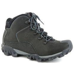 Trzewiki męskie trekkingowe BADURA 4163 - czarny