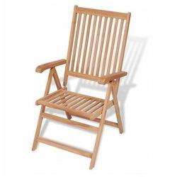 Drewniane krzesło ogrodowe Onder - brązowe