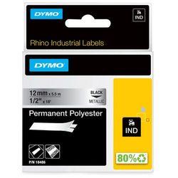 Dymo taśma do drukarek etykiet 18486, czarny druk/metaliczny podkład, 5.5m, 12mm