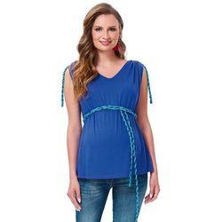 ubrania ciążowe Letnia bluzka ciążowa Gigi Kobalt Piękny Brzuszek