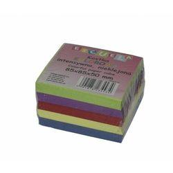 Kostka notes biurowa nieklejona kolorowa 85x85x50