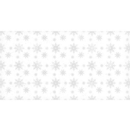 Ozdoby świąteczne, Dekoracyjny papier 17x32 cm śnieg 2 - biały - biały
