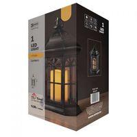 Ozdoby świąteczne, -- WYSYŁKA 48H-- Czarny lampion świąteczny LED ze świecą na baterie 3xAAA ZY2117 EMOS