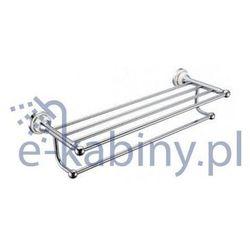 Półka ART PLATINO NIK-57010 na ręczniki z relingiem