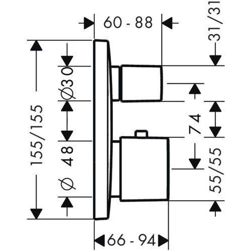 Baterie do pryszniców, Bateria Hansgrohe Puravida 15775000