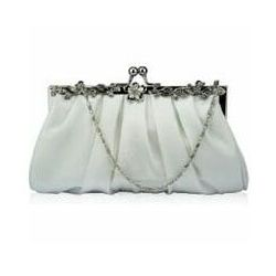Biała torebka ślubna, wieczorowa