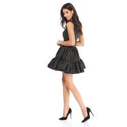 Sukienka Doll czarna w złote kropki