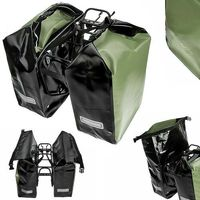 Sakwy, torby i plecaki rowerowe, CO1010.30.94 Sakwy rowerowe Crosso DRY SMALL 30l Oliwkowe zestaw na tył / przód