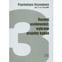 PSYCHOLOGIA ROZWOJU T.11 NR 3 ROK 2006 (oprawa miękka) (Książka) (opr. miękka)