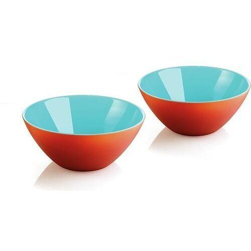 Misy i miski, Guzzini - My Fusion - kpl. 2 miseczek, pomarańczowo - niebieskie - niebieski   pomarańczowy