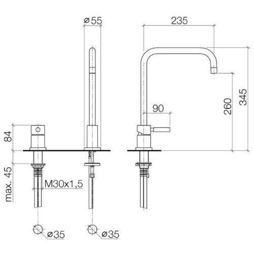 Baterie do kuchni, Bateria Dornbracht Meta 32815625-00