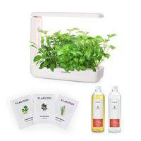 Nasiona, Klarstein GrowIt Cuisine Zestaw startowy I 10 roślin oświetlenie LED 25 W nasiona roślin azjatyckich pożywka płynna
