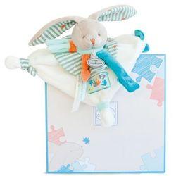 Doudou zawieszka do smoczyak - króliczek Happy