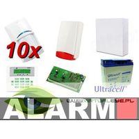 Zestawy alarmowe, Zestaw alarmowy SATEL Integra 64 LCD, 10 czujek, sygnalizator zewnętrzny