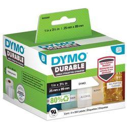 Oryginalne etykiety polipropylenowe DYMO LW 89mm x 25mm durable 1933081 białe/czarny nadruk