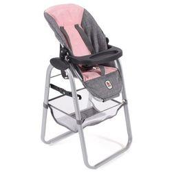 Bayer Chic krzesełko do karmienia lalki, różowo-szare