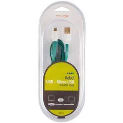 Kabel ARKAS USB-Micro USB 2 m Zielony