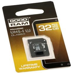 Karta microSDHC 32 GB GOODRAM UHS-I class 10 + adapter SD