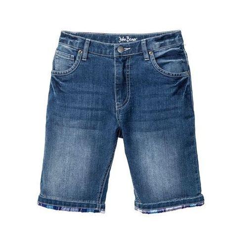 """Krótkie spodenki dziecięce, Bermudy chłopięce ze stretchem bonprix niebieski """"stone"""""""