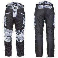 Spodnie motocyklowe męskie, Męskie spodnie motocyklowe W-TEC Kaamuf, Black Camo, 4XL