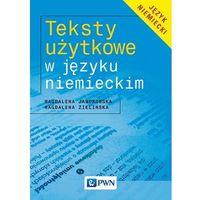 Książki do nauki języka, Teksty Użytkowe w Języku Niemieckim (opr. miękka)