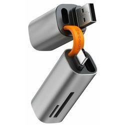 Baseus czytnik kart SD micro SD TF na USB / USB Typ C 5Gbps szary (CADKQ-A0G)