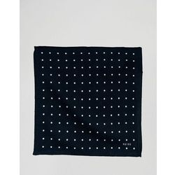 Reiss Printed Pocket Square In Wool - Navy