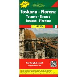 Toskania Florencja Mapa Drogowa 1:150 000