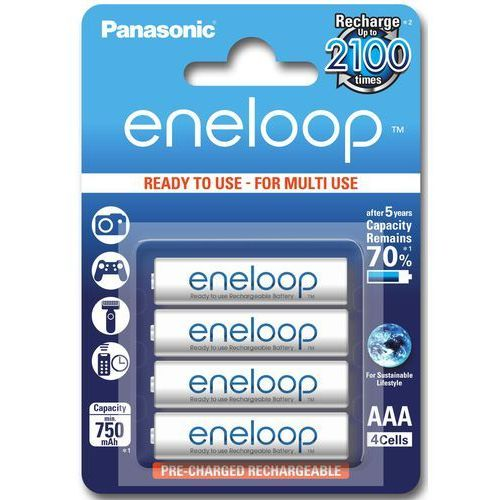 Akumulatorki, Akumulatory Panasonic ENELOOP AAA - 4 x 750 mAh