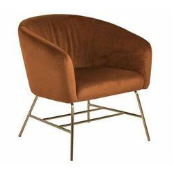 Tapicerowany pomarańczowy fotel relaksacyjny - Nerra 3X
