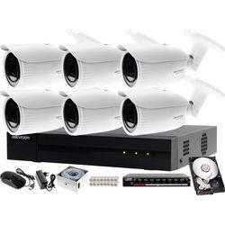Monitoring CCTV dla firm, biur, domów Hikvision Hiwatch Rejestrator IP HWN-4108MH + 6x Kamera HWI-B640H-V + Akcesoria