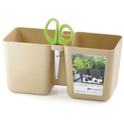 Doniczka na zioła Twins Cube - Prosperplast (Kolor: Kawa z mlekiem)