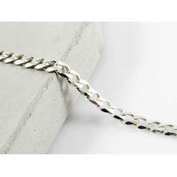 Srebrny (925) łańcuszek PANCERKA 50 cm +OPAKOWANIE