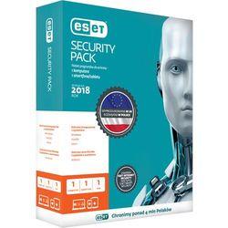 ESET Security Pack BOX3+3smartfon - licencja na 3 ESET Security Pack BOX 3 - desktop + 3 - smartfon - licencja na 3 lata. Nowa wersja już sprzedaży!Licencja uprawnia do pobrania najnowszej, dostępnej wersji programu ochrona 3 komputerów i 3 smartfonów! Informujemy, że w przypadku licencji wielostanowisk