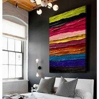 Obrazy, Obrazy ręcznie malowane z fakturą - nowoczesne kolory rabat 10%