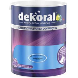 Farba Lateksowa Akrylit W Kolor Niebieski Atrament 5l Dekoral