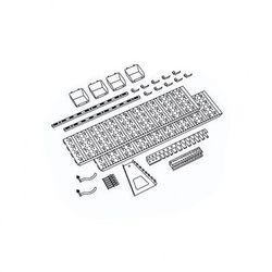 Panel na narzędzia i pojemniki, 19 uchwytów na narzędzia, 4 pojemniki