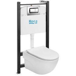 Zestaw podtynkowy WC Roca Active Teras z miską bezkołnierzową i deską wolnoopadającą