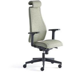 Krzesło biurowe LANCASTER, wysokie oparcie, zielononiebieski