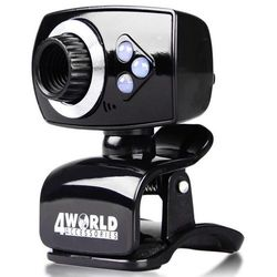 4world Kamera internetowa 2MPx USB, z podświetleniem LED, mikrofon