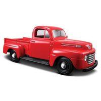 Osobowe dla dzieci, Model kompozytowy Ford F1 Pickup 1948 czerwony 1/25