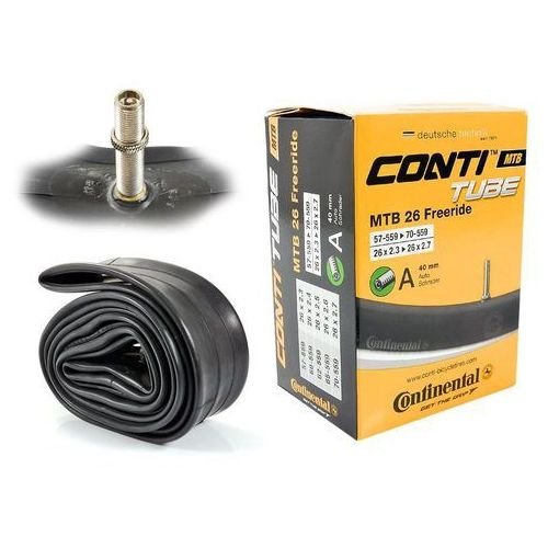 Opony i dętki do roweru, Dętka Continental MTB Freeride 26'' x 2,3'' - 2,7'' wentyl auto 40 mm