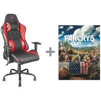 Fotele dla graczy, Fotel TRUST GXT 707R Resto + Gra FAR CRY 5 PC + Zamów z DOSTAWĄ JUTRO! + DARMOWY TRANSPORT!