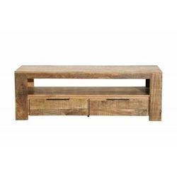 INVICTA stolik RTV IRON CRAFT 130 cm - mango, drewno naturalne, metal