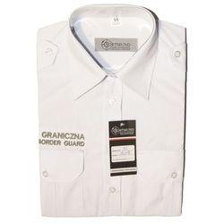 """Koszula biała Straży Granicznej """"POLISH BORDER GUARD"""" - krótki rękaw"""