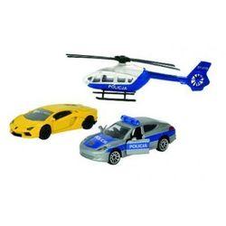 Majorette Policja Pojazdy Pościg policyjny z niebiesko-białym helikopterem